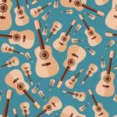 Guitar seamless pattern — Stock Vector