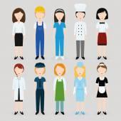 Women profession — Stock Vector