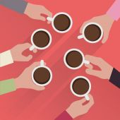 Hands with cup of coffee — Stock Vector