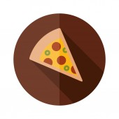 Pizza flat icon — Stock Vector