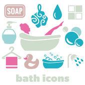 Bath icons — Stock Vector