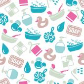Bath seamless pattern — Stock Vector