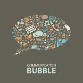 Communication bubble — Stock Vector
