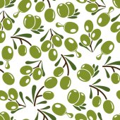 Olives seamless pattern — Stock Vector