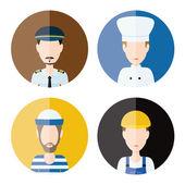 Men profession icons — Vetor de Stock