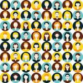 Men and women seamless pattern — Stock Vector