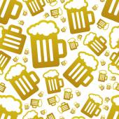 Beer seamless pattern — Stock Vector