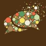 Dots communication bubble — Stock Vector #67492189
