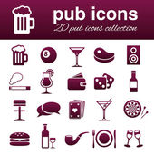 Pub icons — Stock Vector