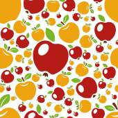 Apple seamless pattern — Stock Vector