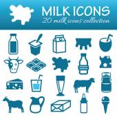 Milk icons — Stock Vector