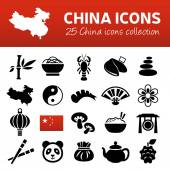 China icons — Stock Vector