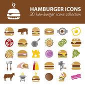 Hamburger icons — Stock Vector