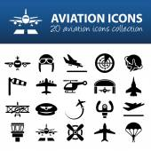 Aviation icons — Stock Vector