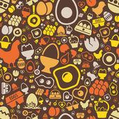 Egg seamless pattern — Stock Vector