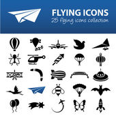 Flying icons — Stock Vector