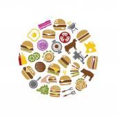 Hamburger icons in circle — Stock Vector