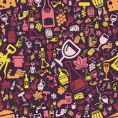 Wine seamless pattern — Stock Vector