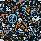 Aviation seamless pattern — Stock Vector