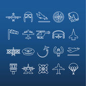 Aviation outline icons — Stock Vector