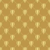 Hot-air balloon seamless pattern — Stok Vektör