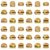 Hamburger seamless pattern — Stock Vector