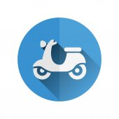 Scooter flat icon — Stock Vector