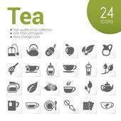 Tea icons — Stock Vector