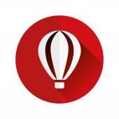 Hot-air balloon flat icon — Stock Vector