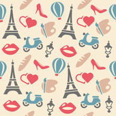 France seamless pattern — Stock Vector