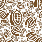 Cocoa seamless pattern — Stock Vector