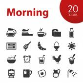 Morning icons — Stock Vector