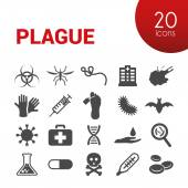 Plague icons — Stock Vector