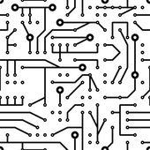 Printed circuit seamless pattern — Stock Vector