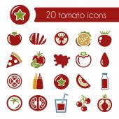 Tomato icons — Stock Vector