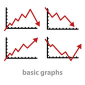 Basic graphs — Stock Vector