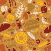 Bakery seamless pattern — Stock Vector