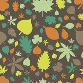 Leaves seamless pattern — Stock Vector