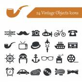 Icone degli oggetti vintage — Vettoriale Stock