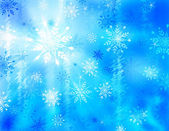Llustration of a Winter Background with Snowflakes and Ice — Stock Photo