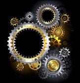 Steel gears — Wektor stockowy