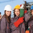 Four women construction workers — Stock Photo #58874021