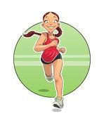 Sport. Running girl. — Stock Vector