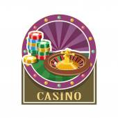 Casino. Roulette and counter — Stock Vector