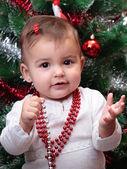 Beautiful christmas baby — Stock Photo