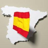 Mappa di Spagna — Foto Stock