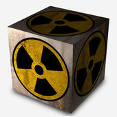 Nucleaire symbool — Stockfoto