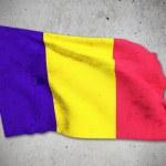 Old Romania flag — Stock Photo #62549013