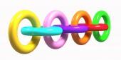 Colored chain — Stock Photo