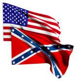 Usa and confederate flag — Stock Photo